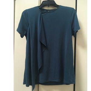 Banana Republic Factory blue draped blouse